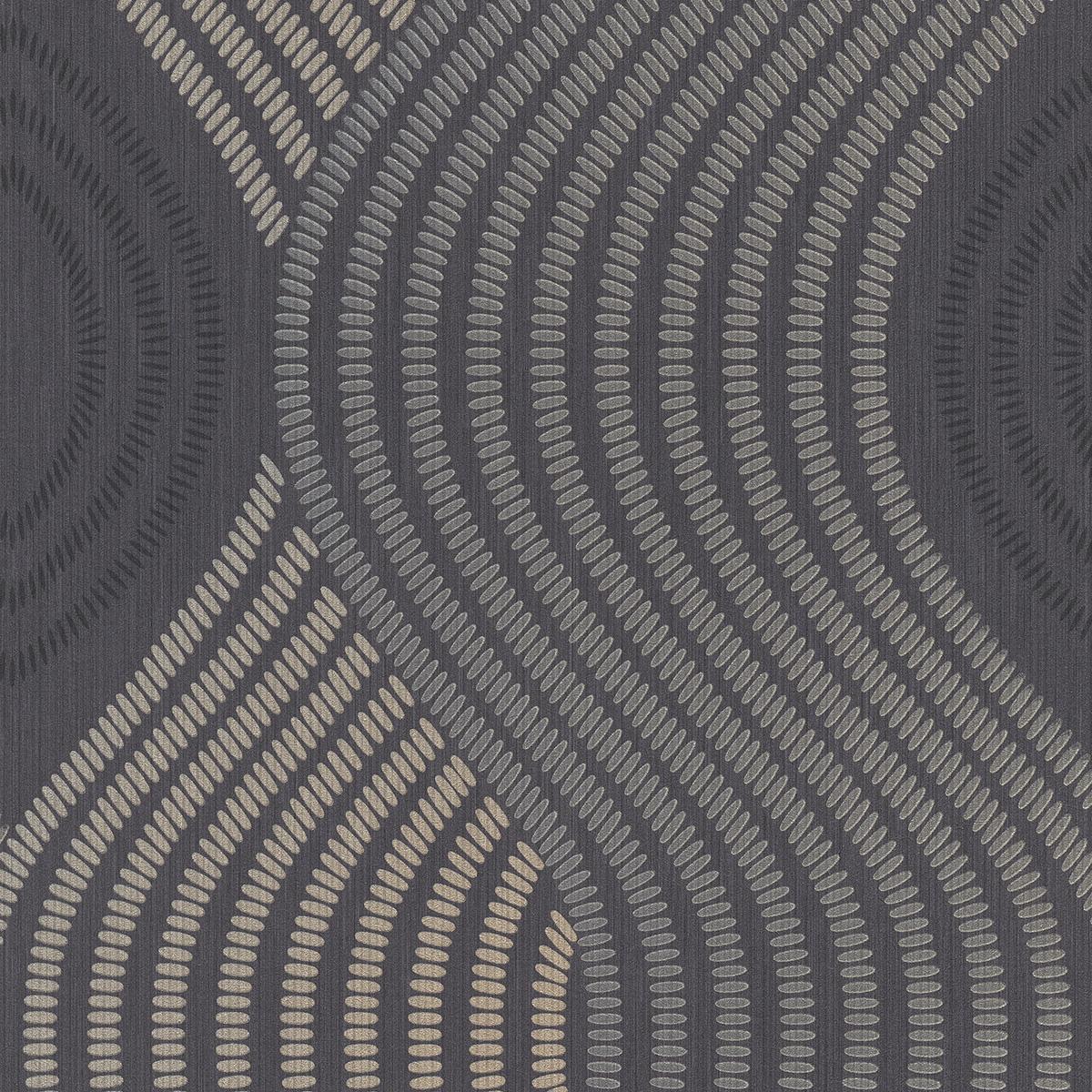 тапет Фешън 4Уолс сив плат златни точки