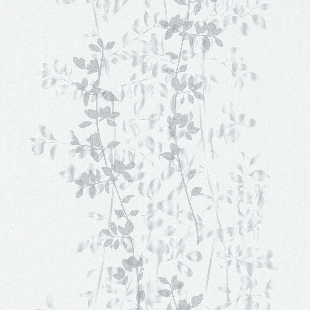 тапет Фешън 4Уолс сребърни клонки бяло