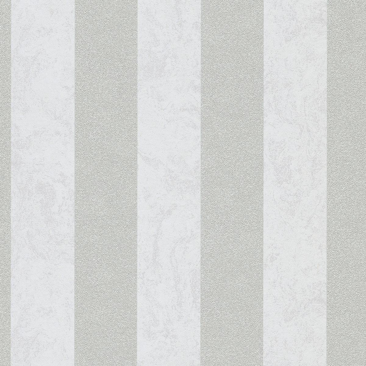 тапет Карат сребърно райе мазилка бяло