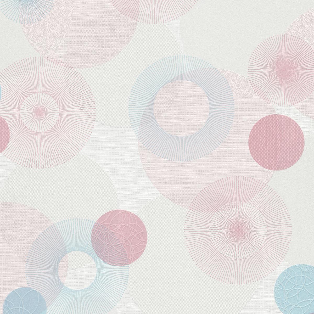 тапет Бестселър 3 кръгове розово