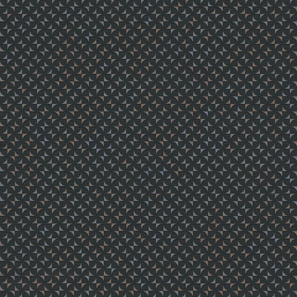 тапет Сезони 3D геометрични форми черно