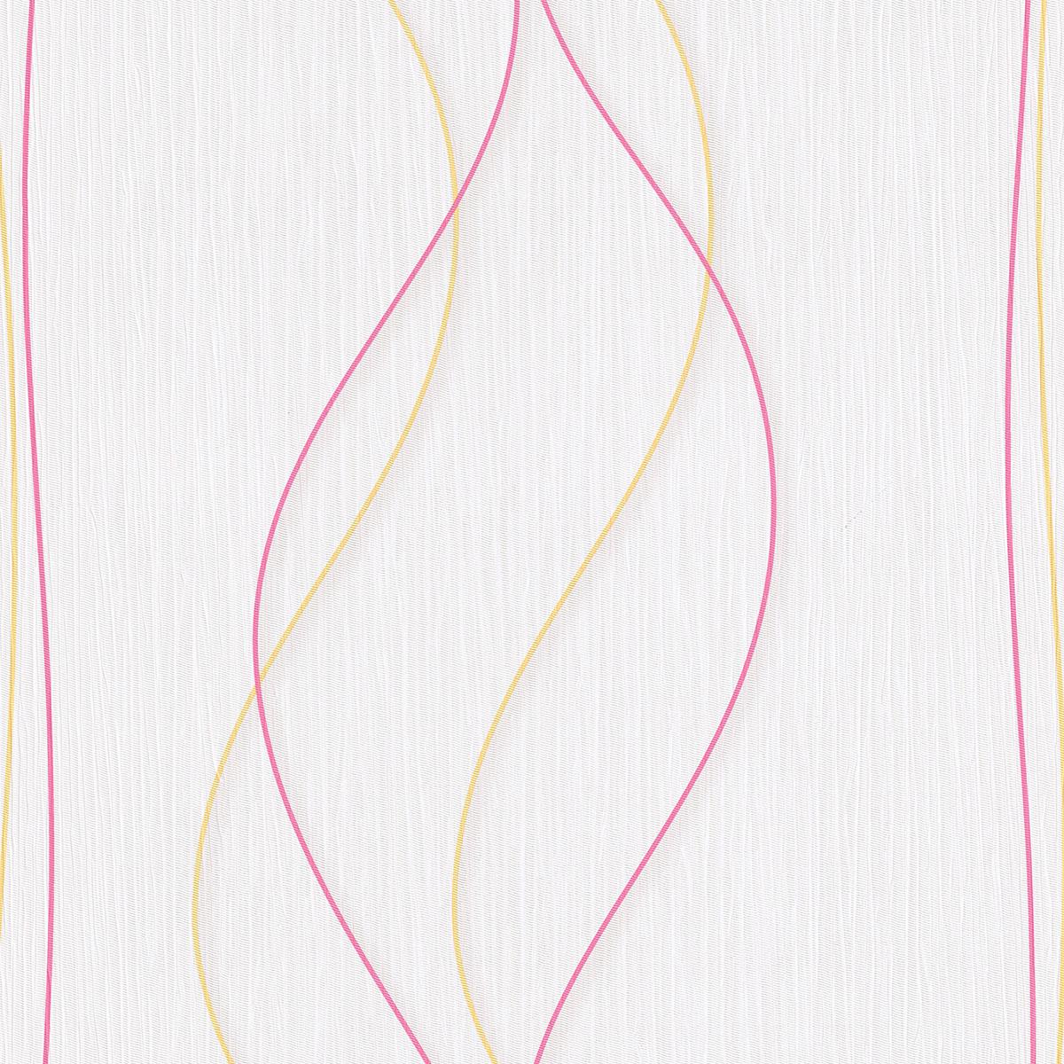 Тапет Лято цветни вълни бяло
