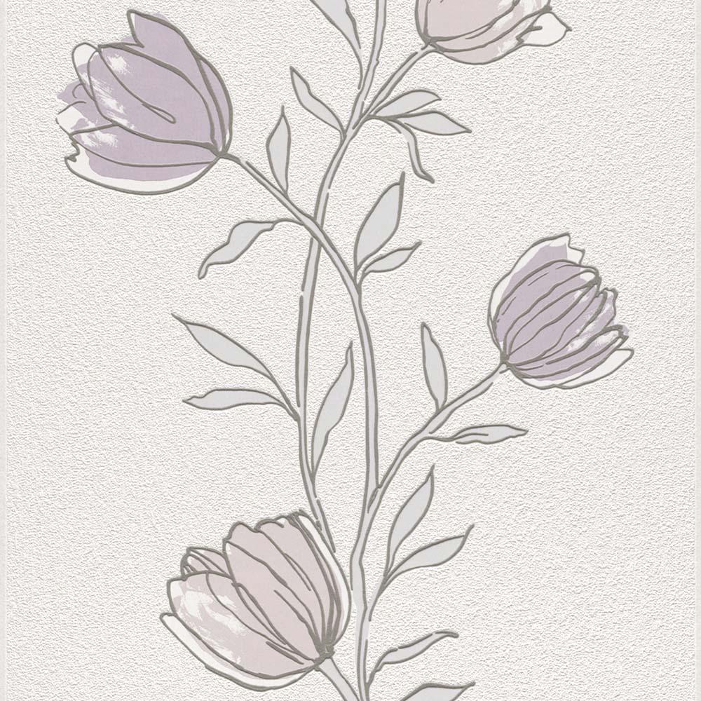 тапет Trend Nature лила лалета бяло