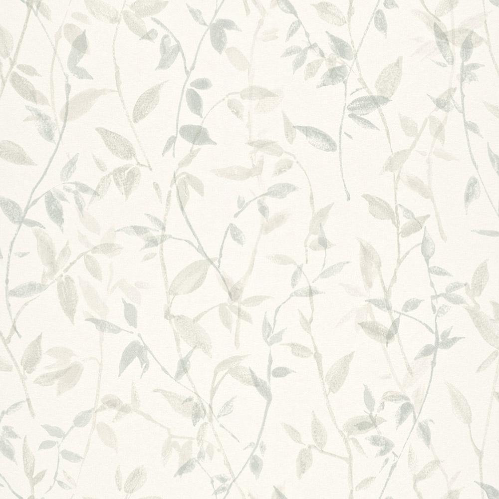 тапет Trend Nature зелени клонки бяло