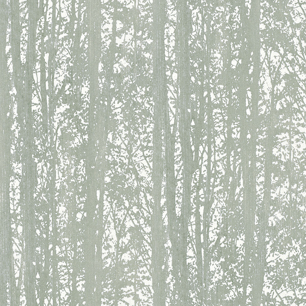 тапет Trend Nature сиво-зелена гора бяло