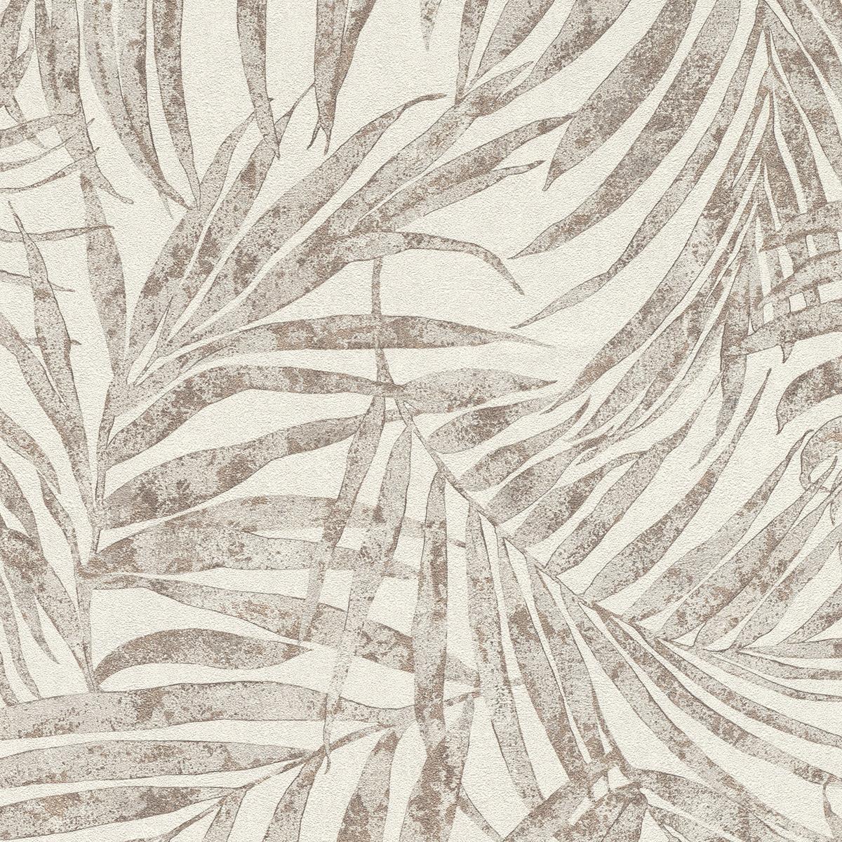 Тапет Инспирейшън 2 бронзови палмови клонки крем