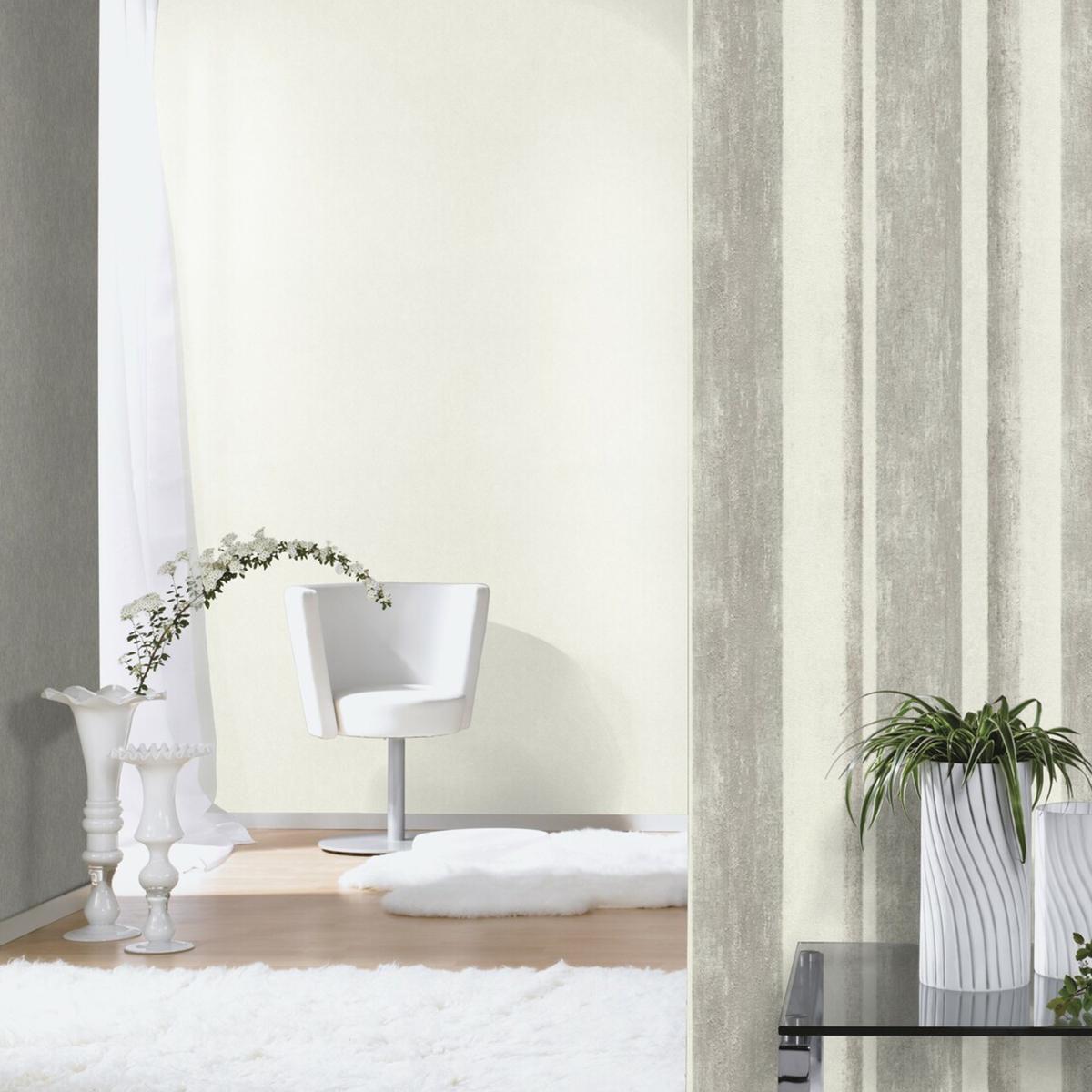 Тапет Инспирейшън 2 крем бетон райе сив