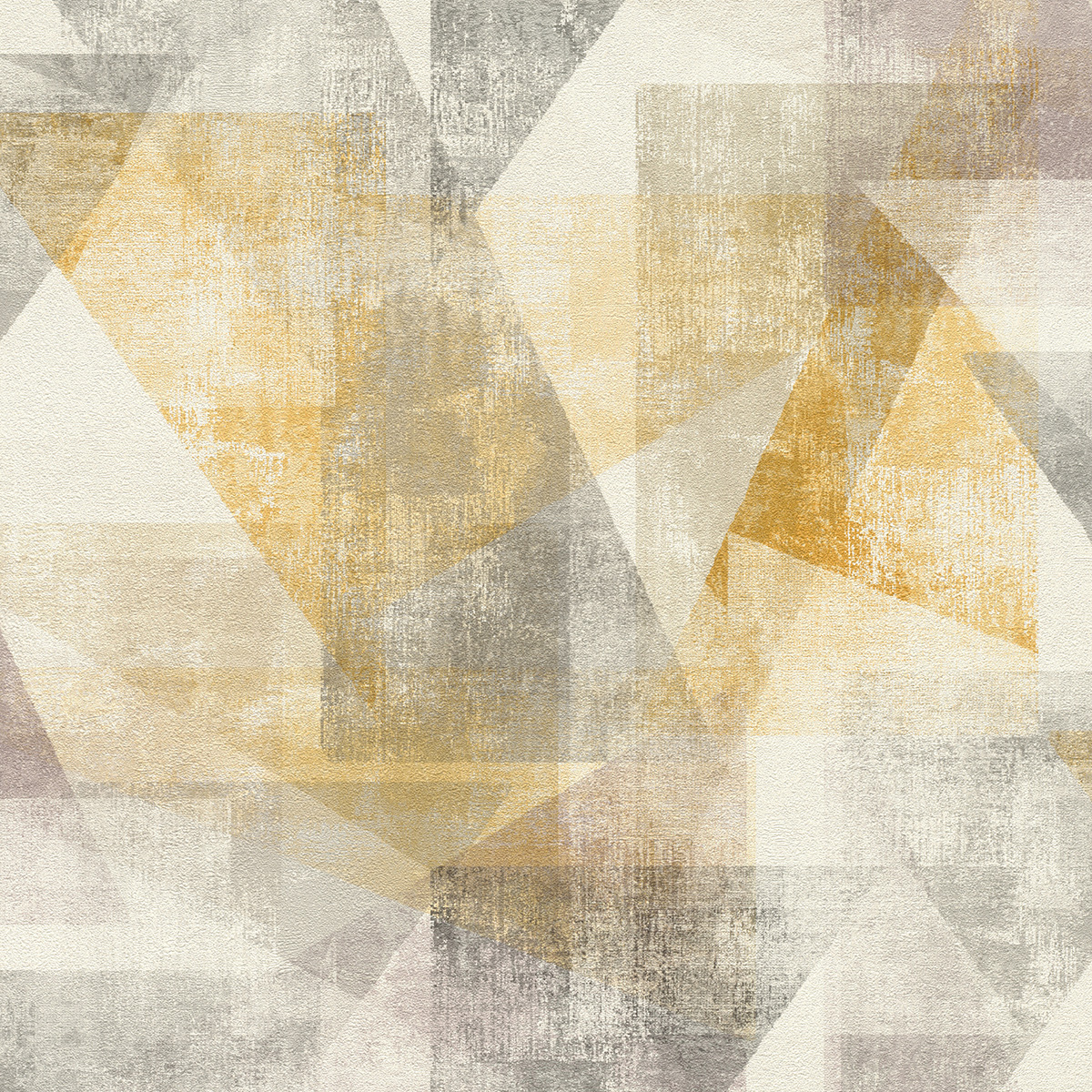 Тапет Инспирейшън 2 цветни абстрактни триъгълници жълто