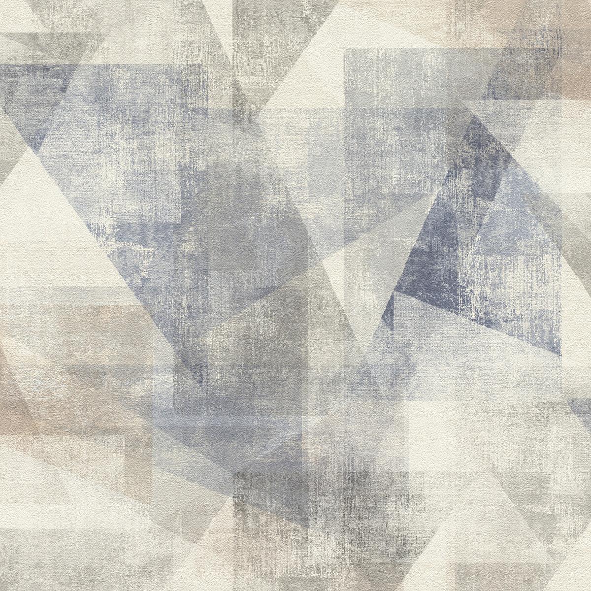 Тапет Инспирейшън 2 цветни абстрактни триъгълници сиво