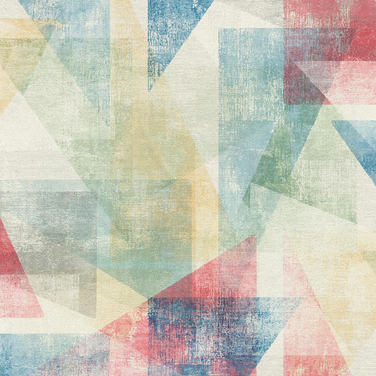 Тапет Инспирейшън 2 цветни абстрактни триъгълници червено