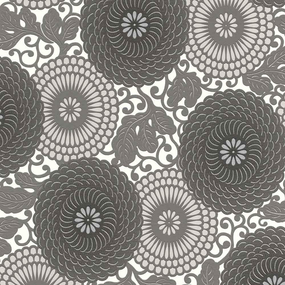 тапет #СмениТапетите сиви мандала цветя крем