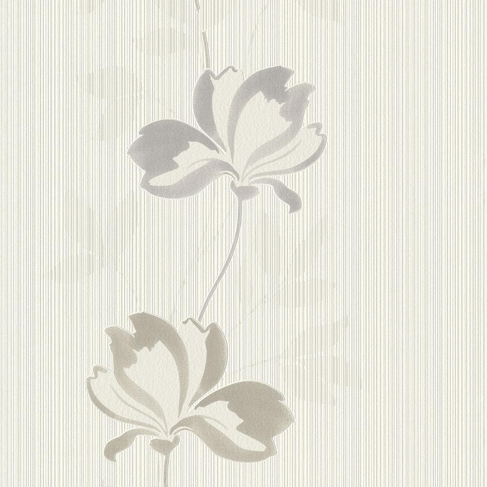 тапет #СмениТапетите сиви цветя крем