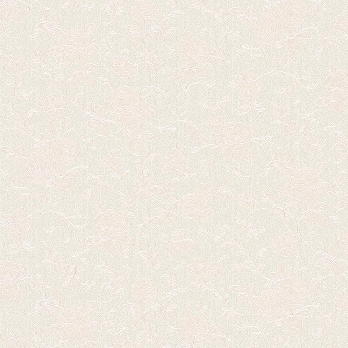 тапет Монтего текстилни цветя бяло