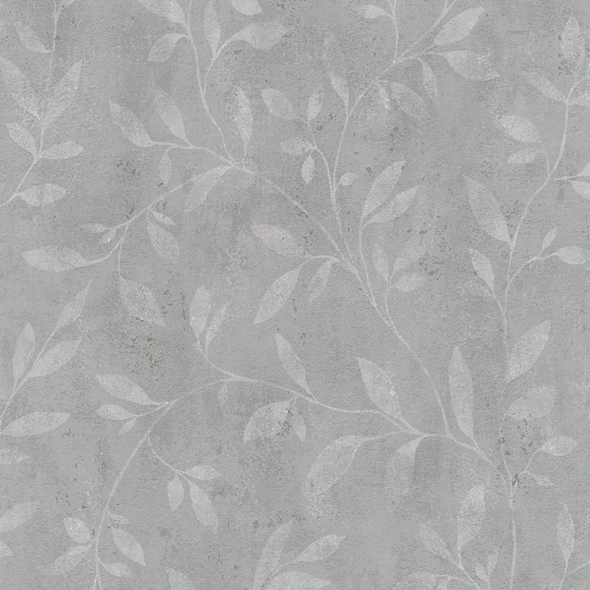 Тапет Ърбан Спейсис сиви цветя крем
