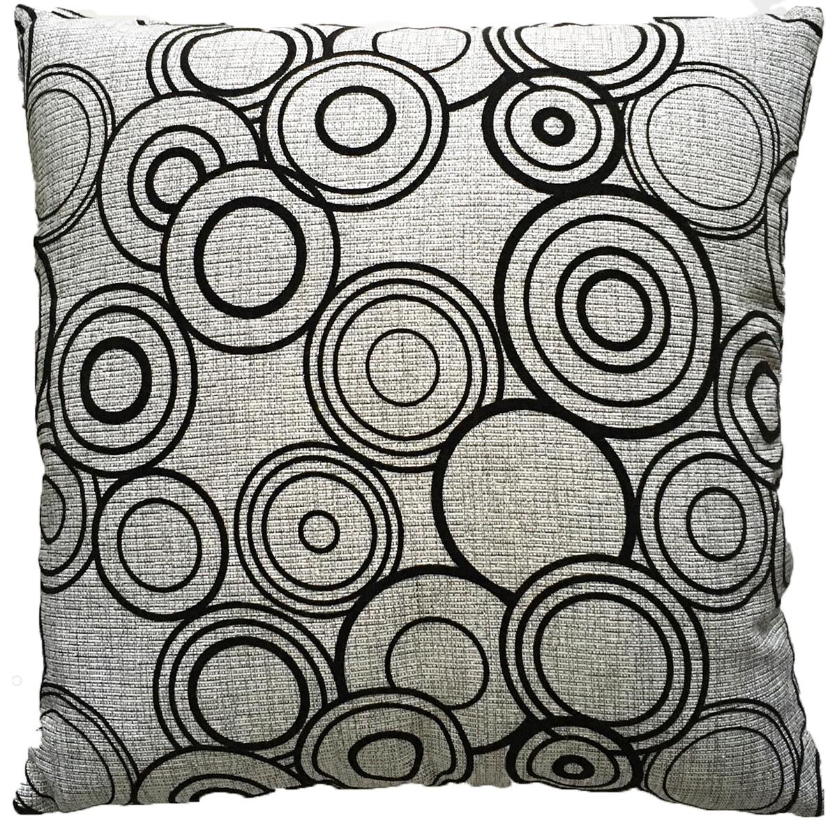 Възглавница NAZARE цвят 1 45х45 сиво кръгове