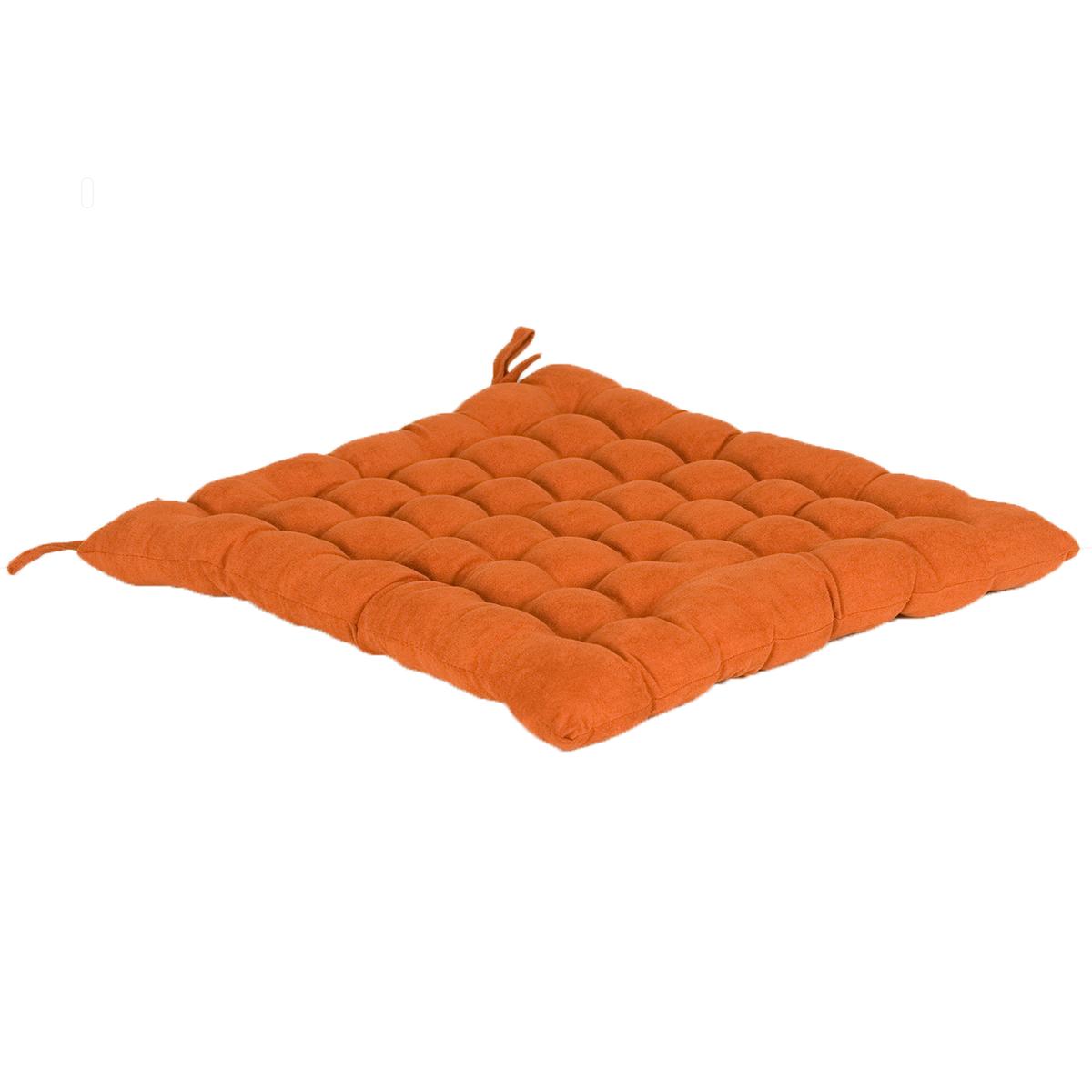 Възглавница за сядане Alcantara цвят 9 40х40 брик