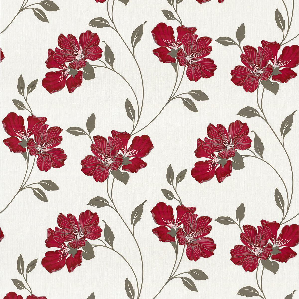 тапет Бестселър 3 червени цветя крем