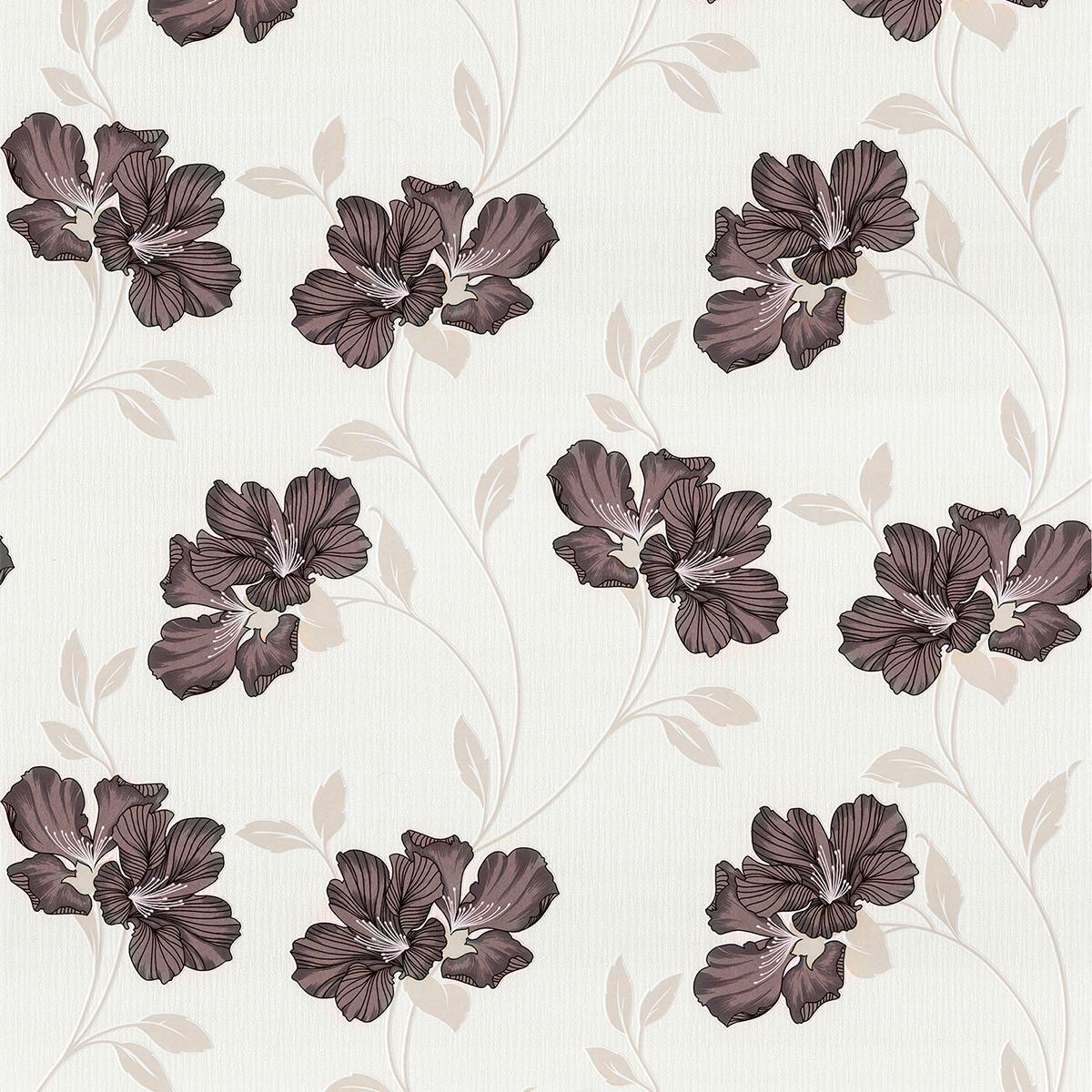 тапет Бестселър 3 кафяви цветя крем