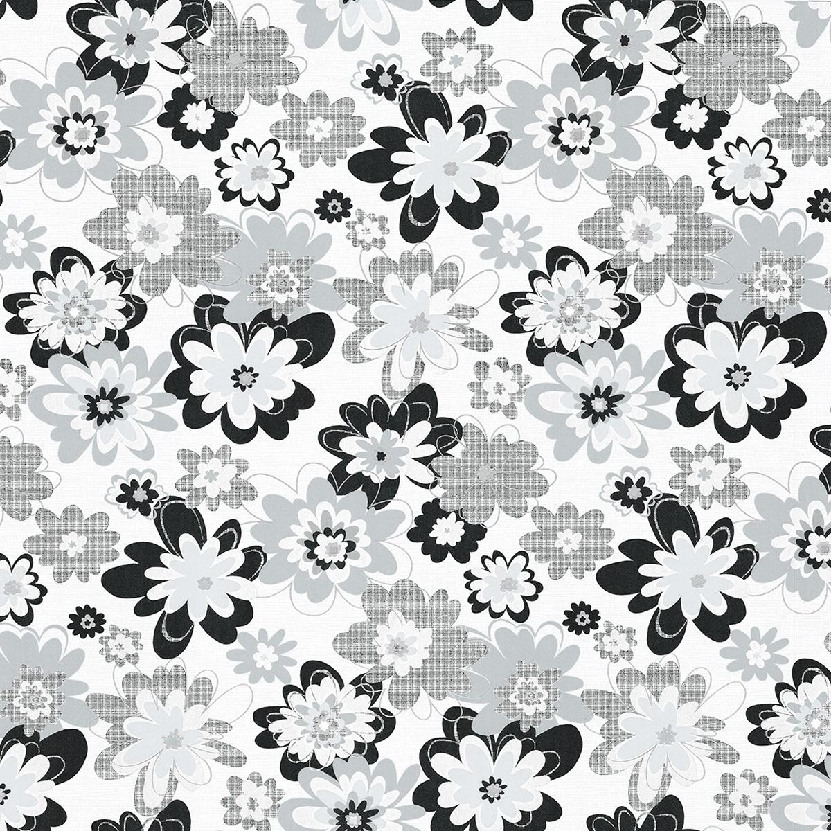 тапет Бестселър 3 сиви цветя крем