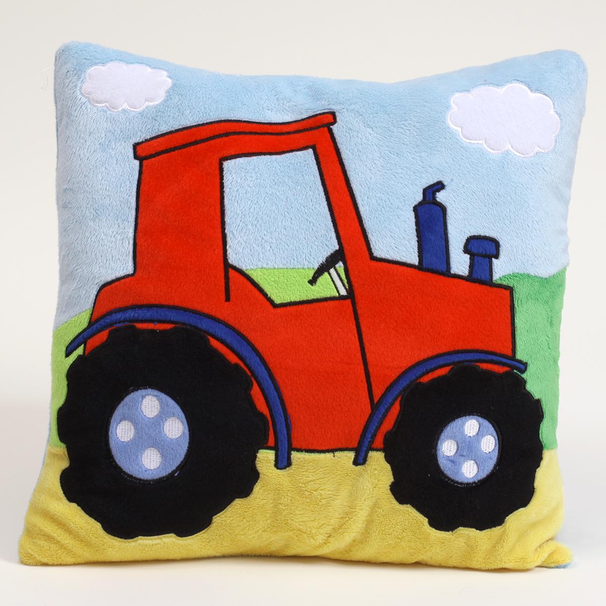 Детска възглавница с бродерия цвят 37 35х35 трактор