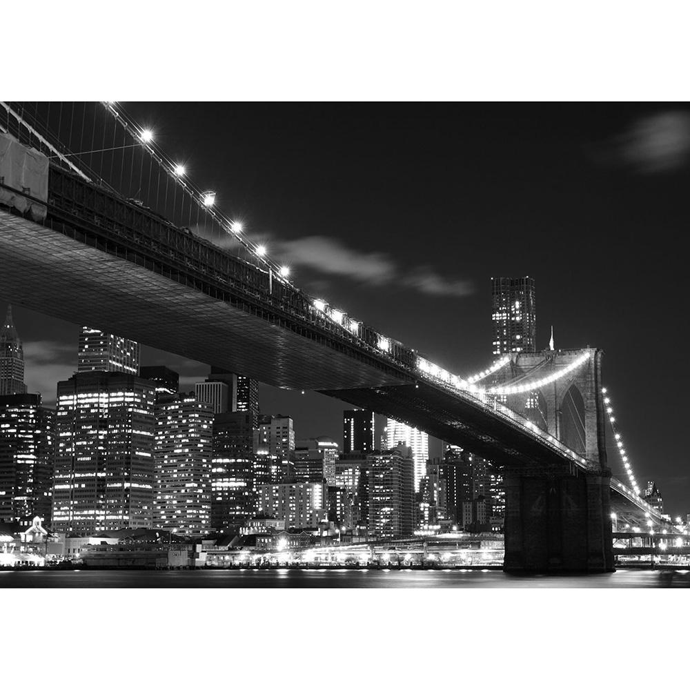 Фототапет Стандарт 360×254 см, 4ч., Бруклинският мост ч/б