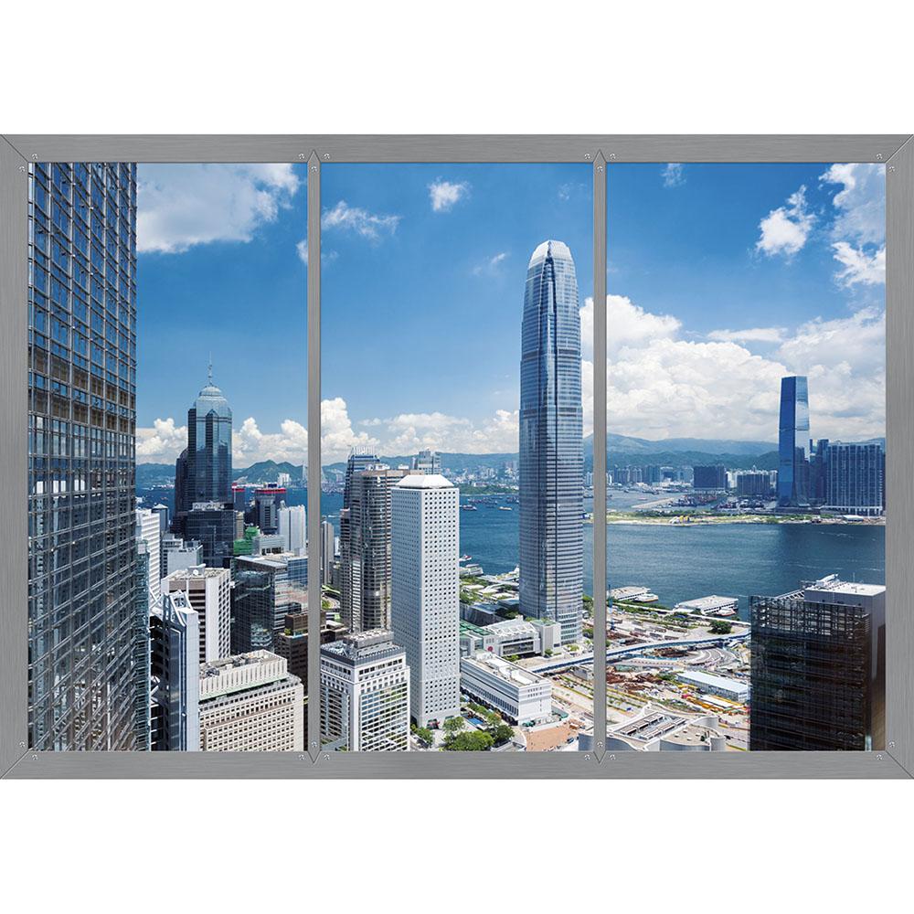 фототапет Стандарт 360х254/4ч Прозорец в града