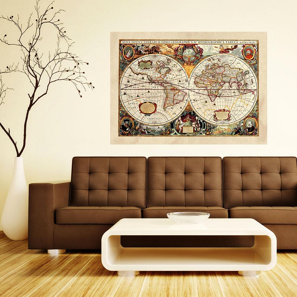 Фототапет Макси постер 160×115 см, 1ч., карта на света