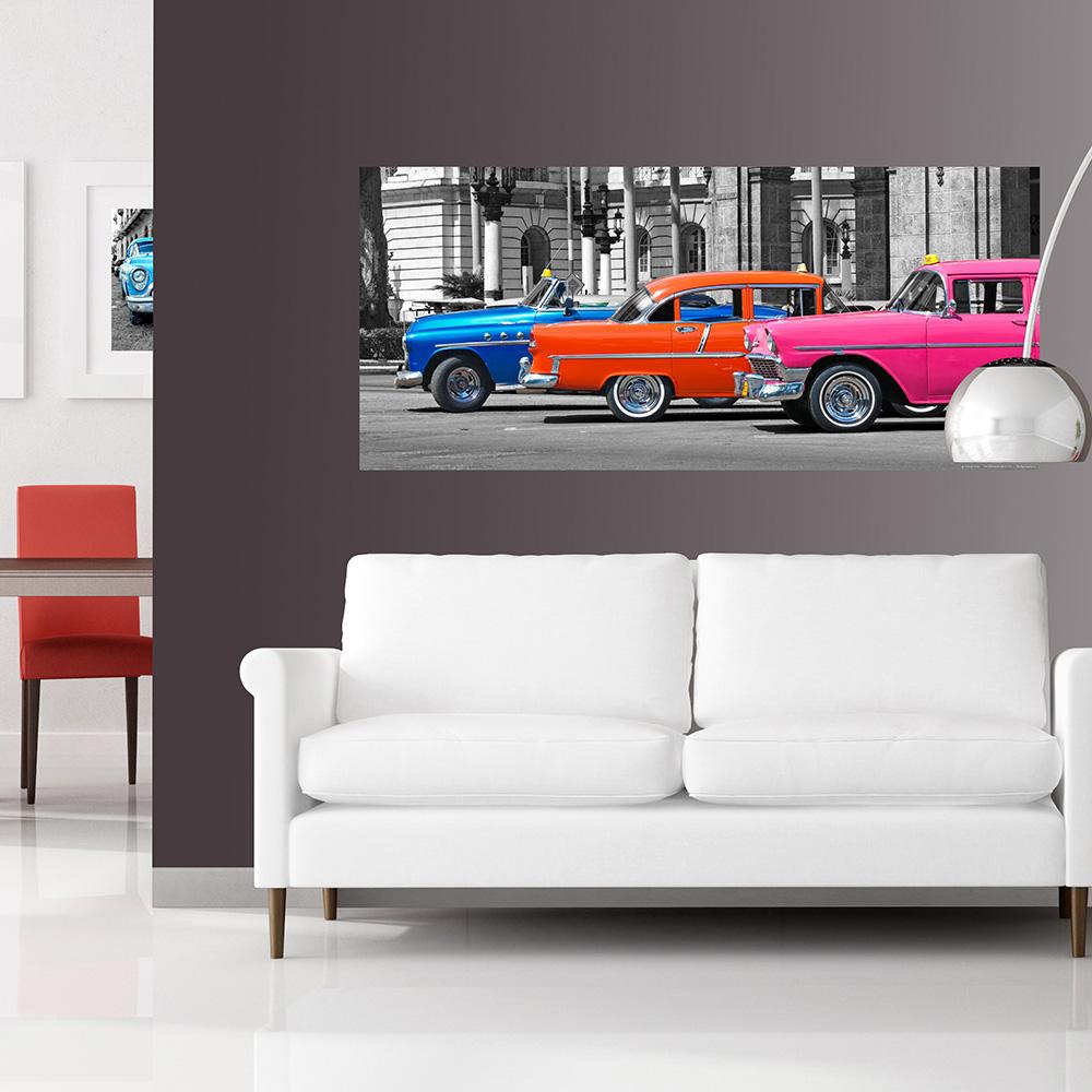 Фототапет Флис 202×90/1ч Хориз. Куба автомобили