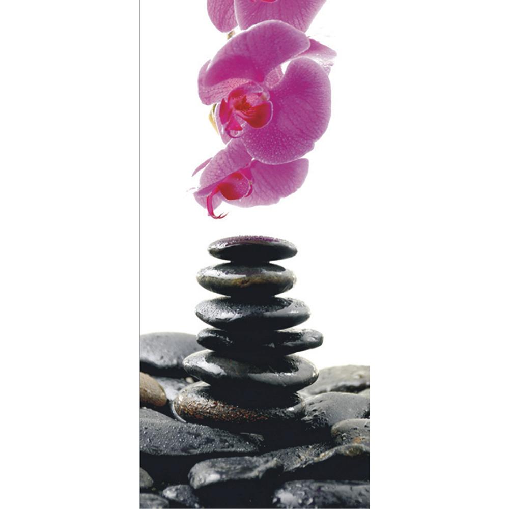 Фототапет Флис 90×202/1ч Верт. Камъни орхидея