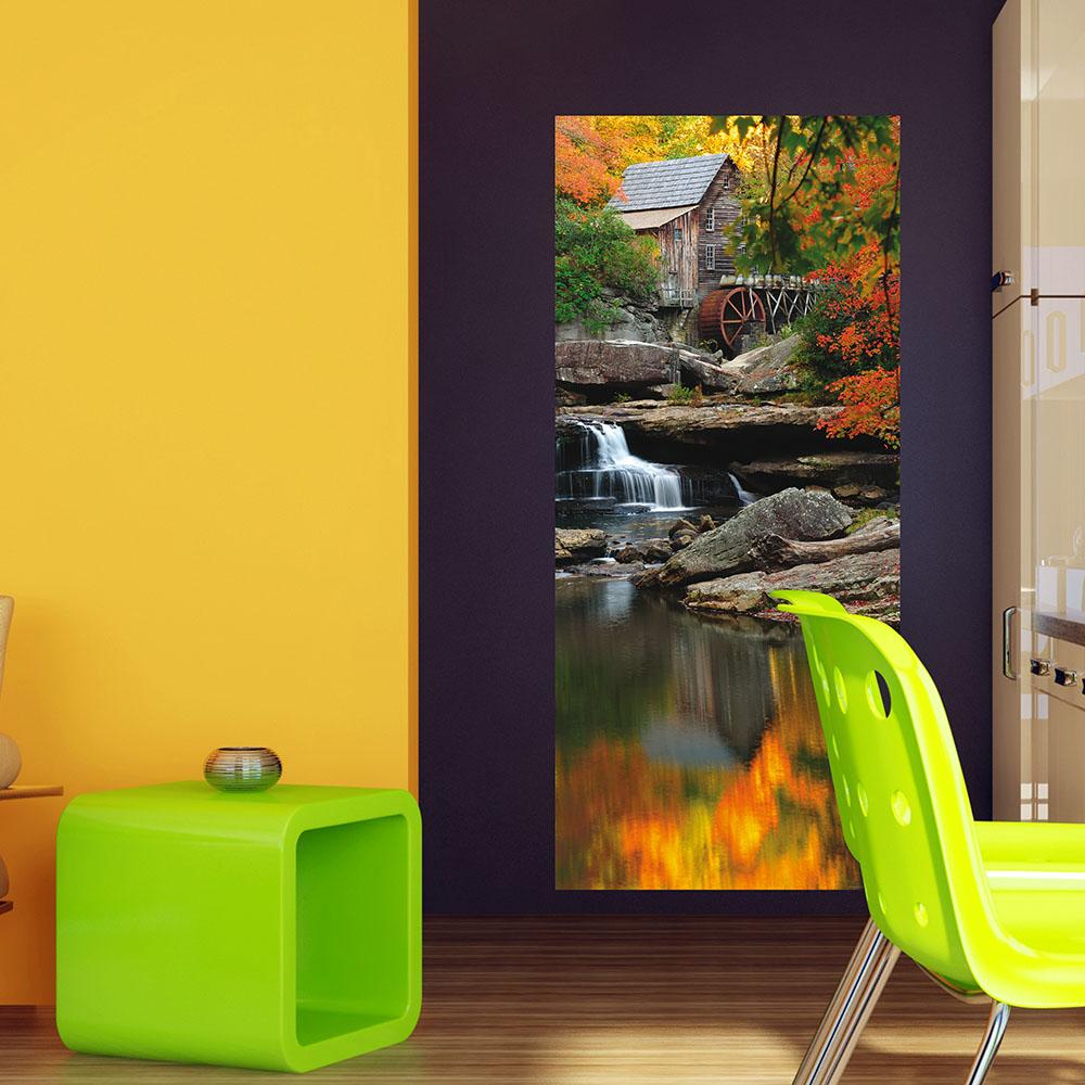 Фототапет Флис 90×202/1ч Верт. Есенна мелница