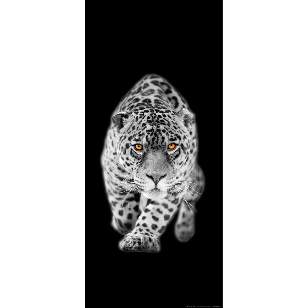Фототапет Флис 90×202/1ч Верт. Леопард