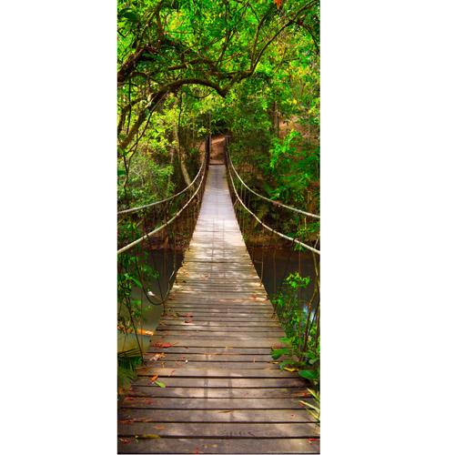 фототапет Креатив Вертикал 90×202 см, 1ч., зелен мост
