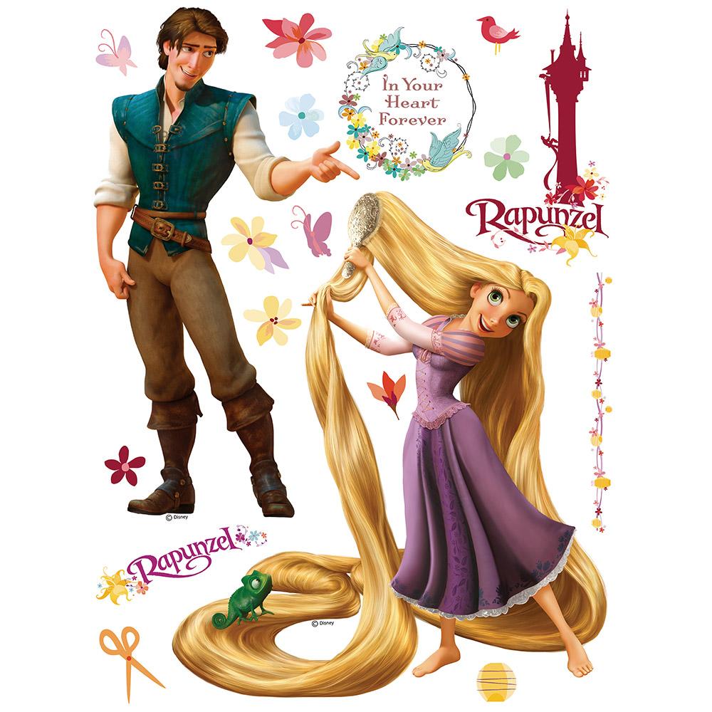 Стикери A&G Disney 65×85 см, 1ч., Рапунцел и принца