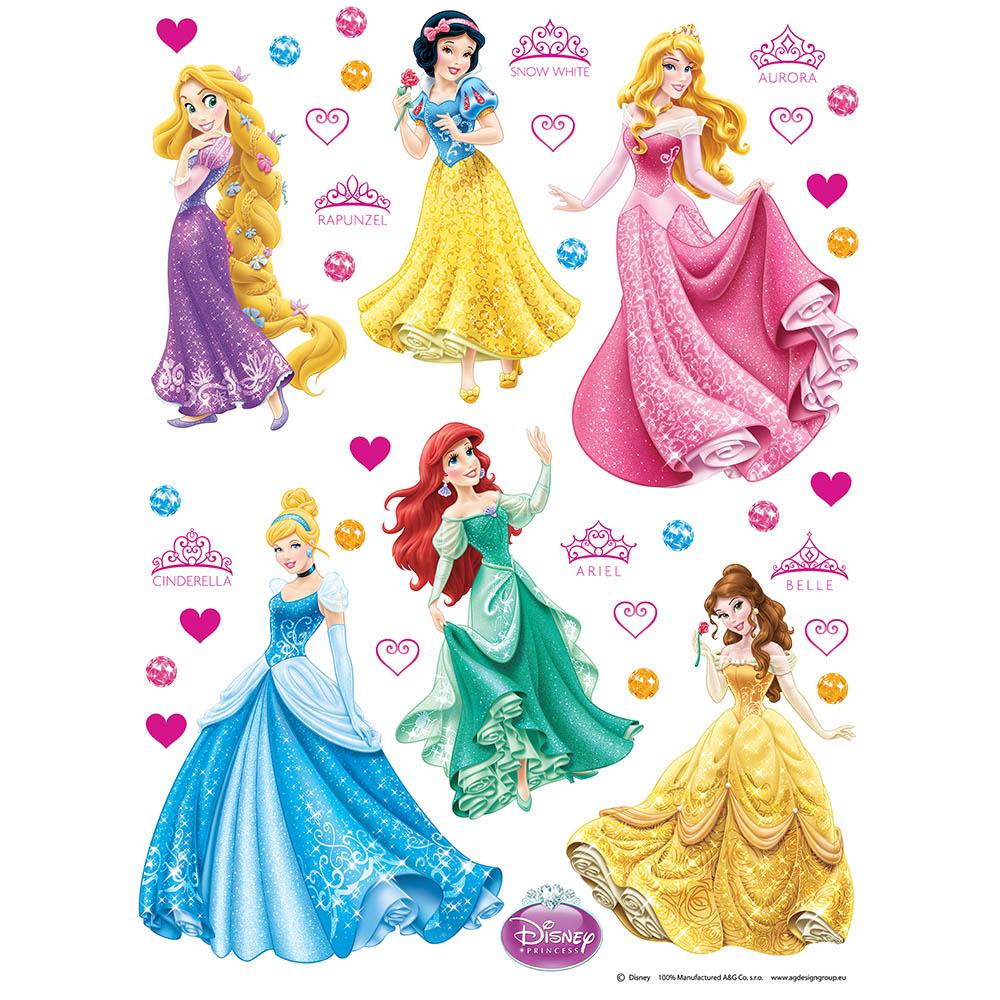 Стикери A&G Disney 65×85 см, 1ч., принцеси