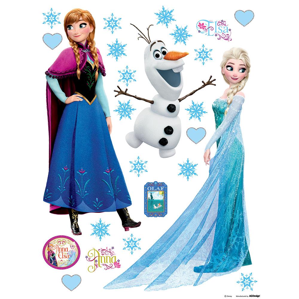 стикер Disney 65х85 Елза, Ана и Олаф