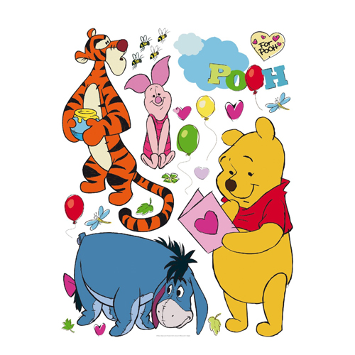 стикери A&G Disney 65×85 см, 1ч., Мечо Пух и приятели