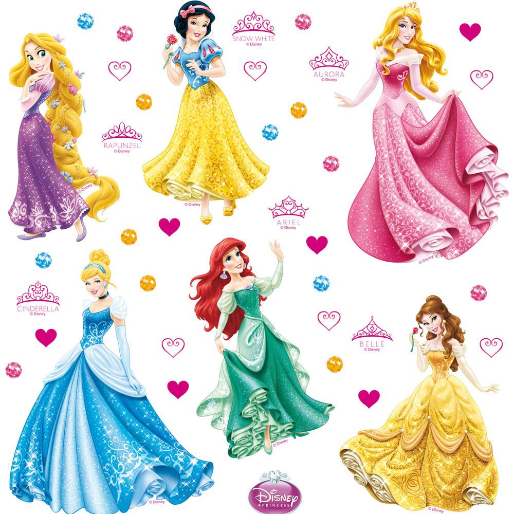 стикер Disney 30х30 Принцеси