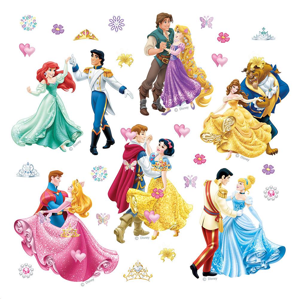 стикер Disney 30х30 Принцеси на бал