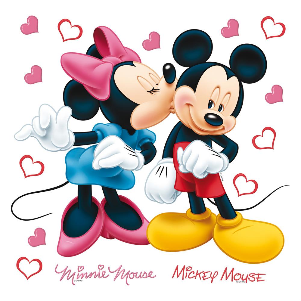 стикер Disney 30х30 Мики и Мини
