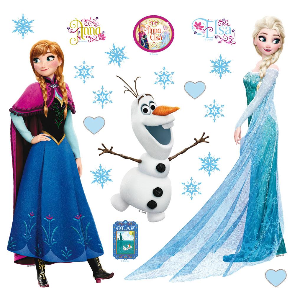 стикер Disney 30х30 Елза, Ана и Олаф