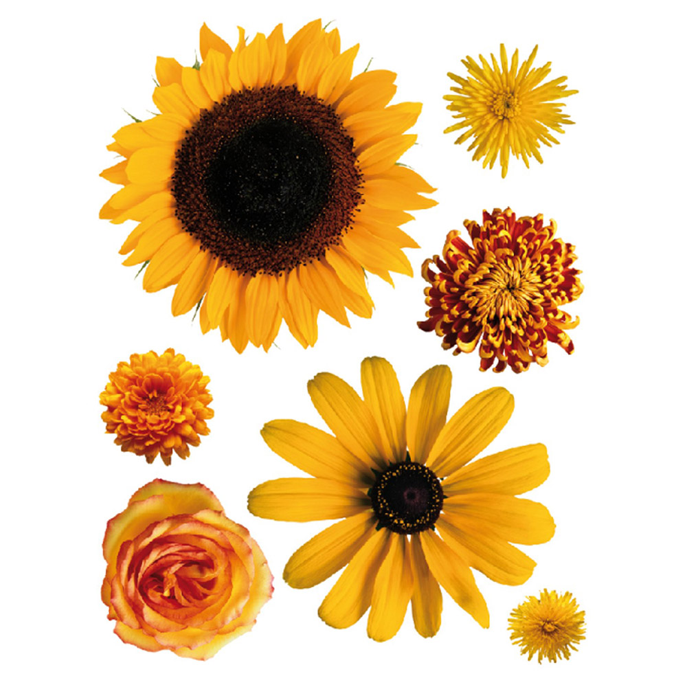 стикер 65х85 Оранжеви цветя