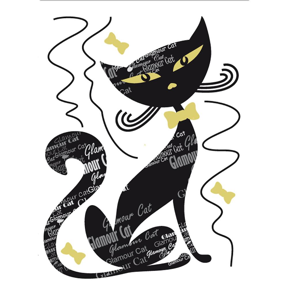 Стикери A&G 65×85 см, 1ч., чаровно коте