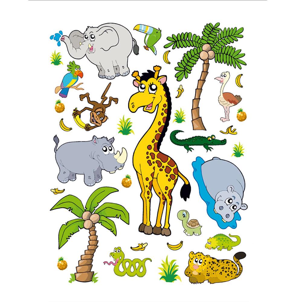 Стикери A&G 65×85 см, 1ч., джунгла
