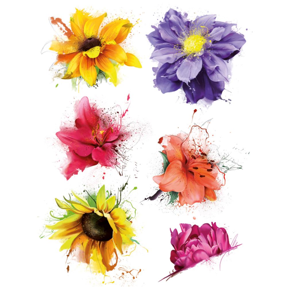 Стикер 65х85 Арт цветя