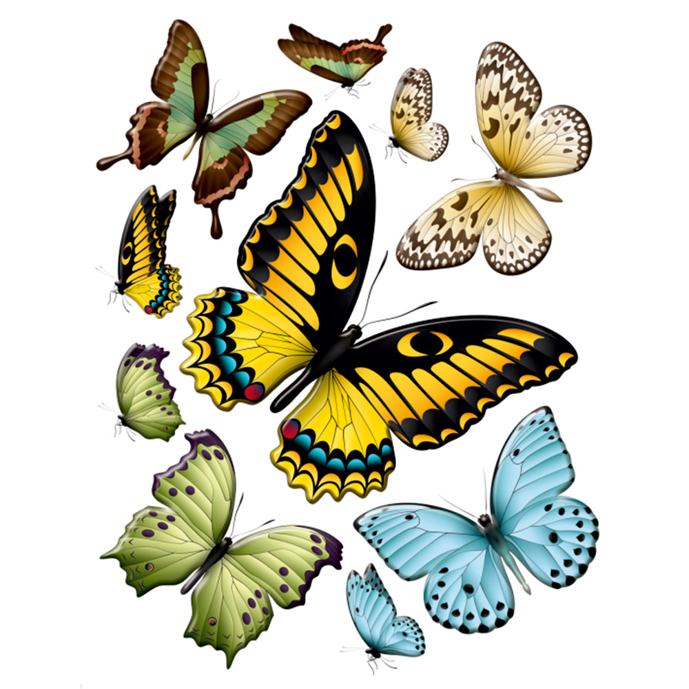 Стикер 65х85 Големи пеперуди