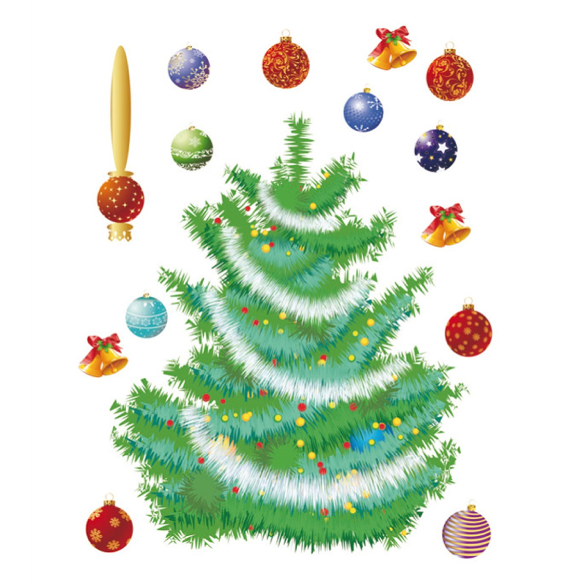 Стикери A&G 65×85 см, 1 ч., Коледно дърво