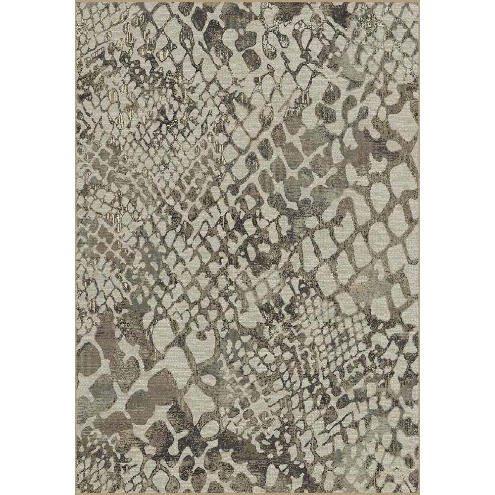 килим Genova мрежа сиво-кафяво