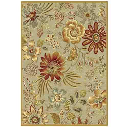 килим Genova цветя беж и червено