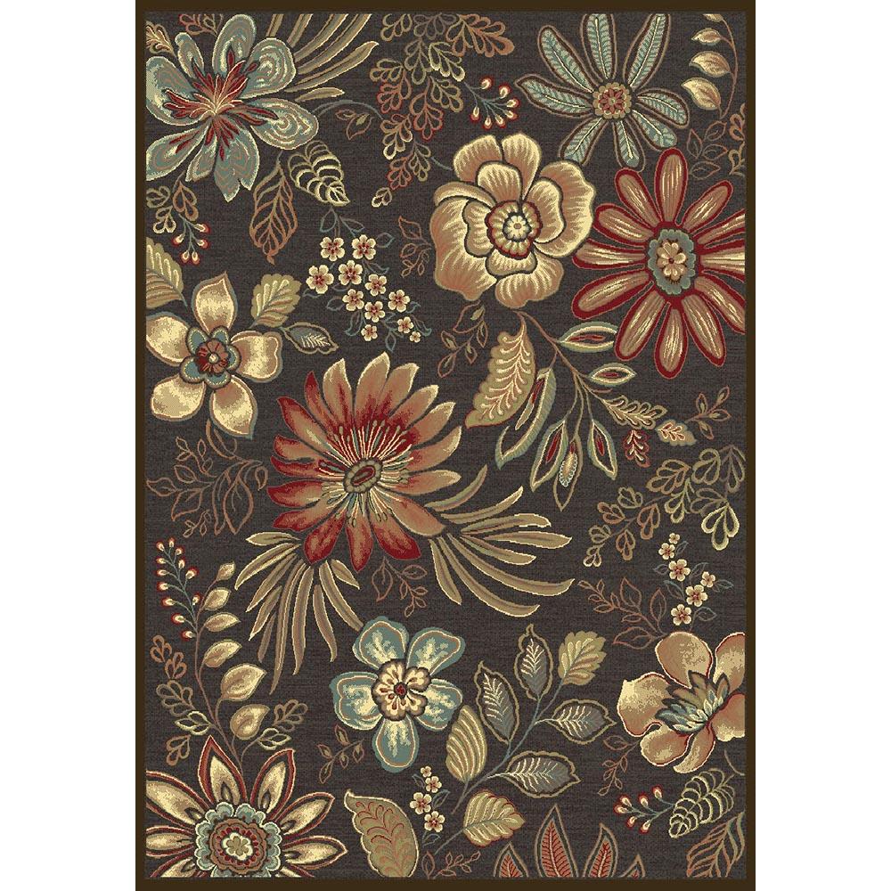килим Genova цветя черно