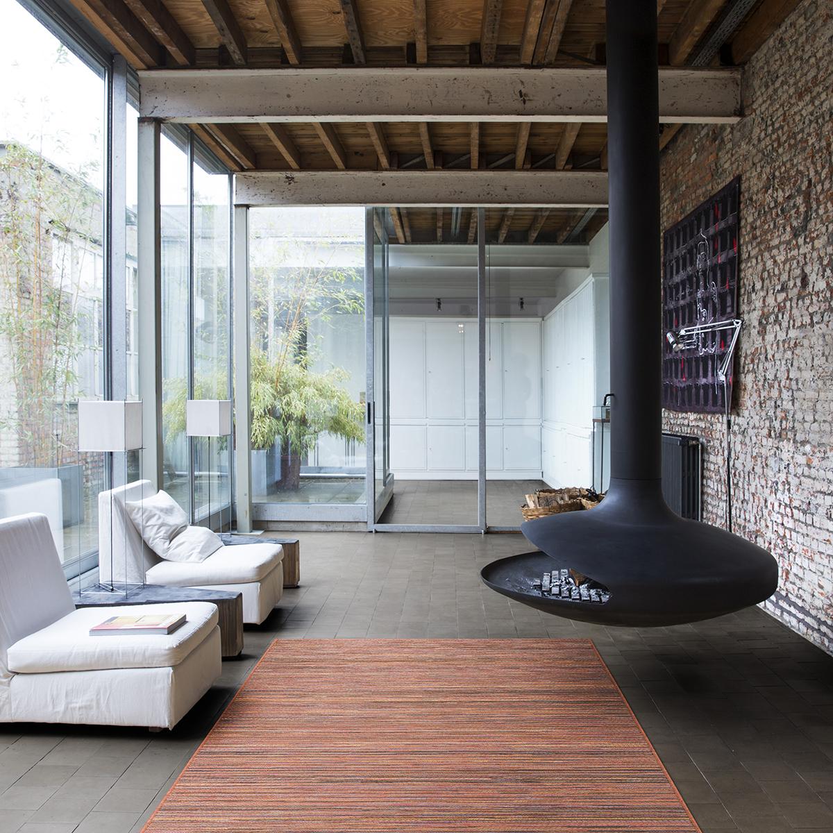 Килим Brighton рески оранжево